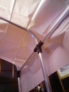夜中にテント作り
